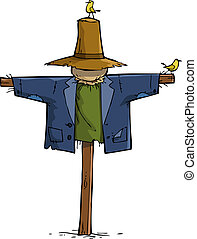 Scarecrow on a white background vector illustration