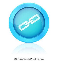 Blue vector link button