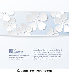 Abstract flower banner. Vector illustration.