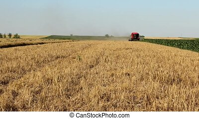 timelapsecombine work in field - combine work in field in...