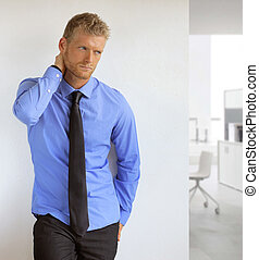 Sexy young businessman - Portrait of a sexy handsome young...