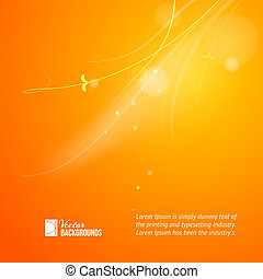 Warm sun light Vector illustration