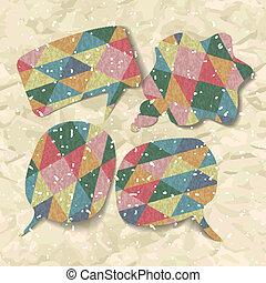 Checkered balloons speech