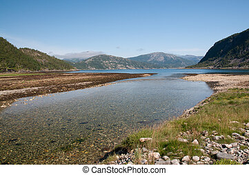 Estuary of a river in northern Norway