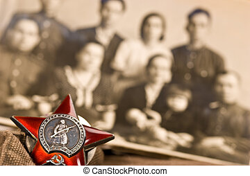 honours - Medal of red star, memory about world war two.