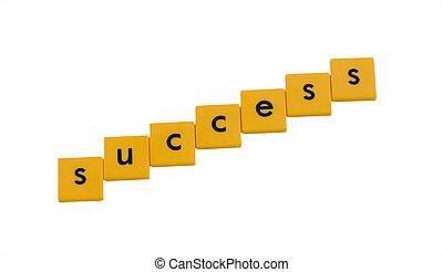 success tiles - success written in childrens letter tiles...