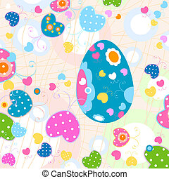easter design - easter eggs and butterflies pattern