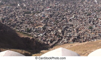view to Jaipur red city in India - view to Jaipur red city...