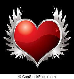 love heart wings