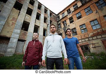 Bad guys  - Portrait of dangerous guys on the street