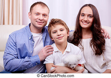 Family at leisure