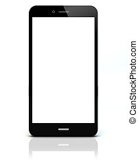 empty smartphone - render of a smartphone with empty screen