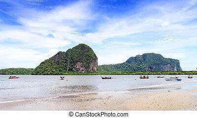 Beach at Trang in the Andaman Sea, Thailand