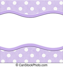Purple Polka Dot Frame for your message or invitation with...