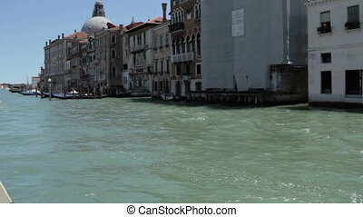 Cruise on the Grand Canal in Venice, view from boat