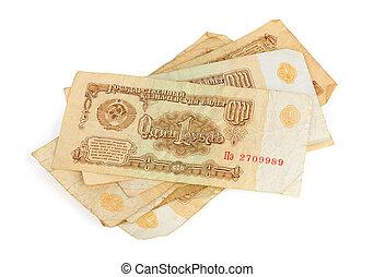 argent, URSS, vieux