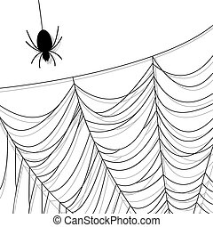 Spider web. Insect and Halloween background. Vector eps10...