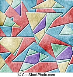 Cubismo, madeira, fundo