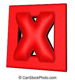 Red cross mark 3D