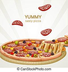 Yummy tasty pizza