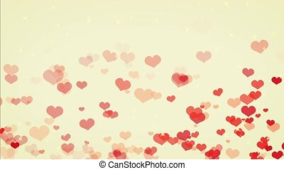 heart gush, spring, cute color BG - loopable
