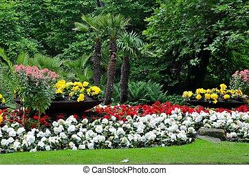 Garden - Beautiful garden in the zoo of antwerp.