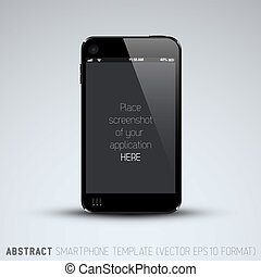 Abstract mobile phone template with place for your...