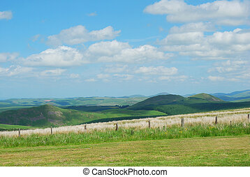Scottish-English Border at Carter Bar - landscape looking...