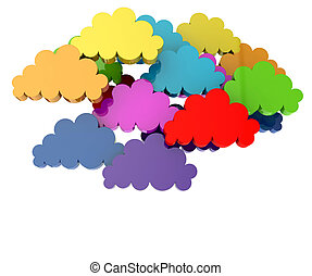 Colorful group of clouds