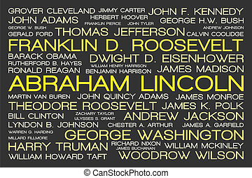 United States Presidents Tag Cloud - The tag cloud showing...