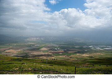 North Israel landscape - Hiking in Israel in Spring vacation...