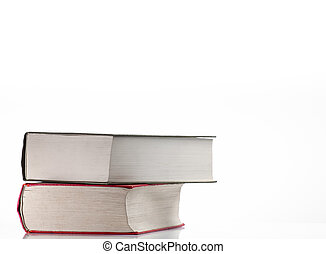 Books over white background, for education,literature or...