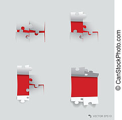 Paper cut of Puzzle Vector illustration