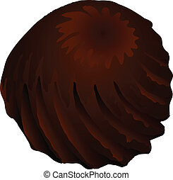 Truffle candy - Truffle chocolate candy with a twisted...