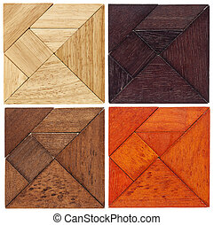 tangram, quadrados