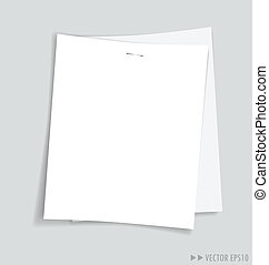 Empty white papers, ready for your message Vector...