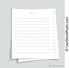 Empty white papers, ready for your message. Vector...