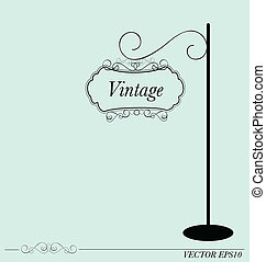 Vintage sign, vector illustration
