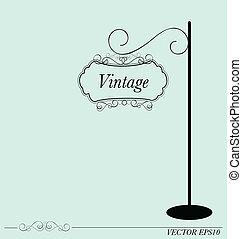 Vintage sign, vector illustration.
