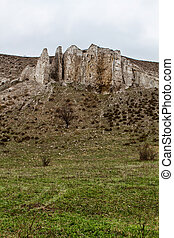 rocky outcrop is located Donetsk region - The rocky outcrop...