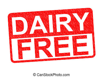DAIRY FREE Rubber Stamp over a white background.