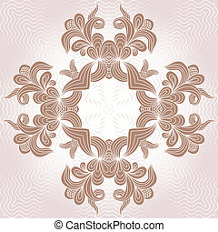 Ornamental pattern - Circle ornament. Ornamental round...