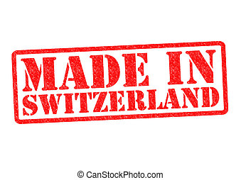 MADE IN SWITZERLAND Rubber Stamp over a white background.