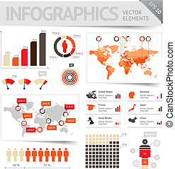 Infographic design elements Vector saved as EPS-10, file...