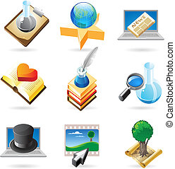 Icon concepts for knowledge - Vector concept icons for...