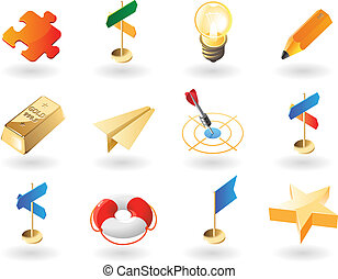 Isometric-style icons for creative business - High detailed...