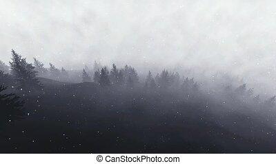 Treck, verschneiter