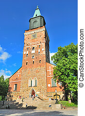 Turku Cathedral, the main church of Finland. 13 century