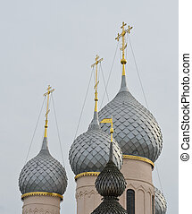 Rostov Kremlin, Russia - Russian Orthodox dome in Rostov...