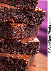 closeup of brownies